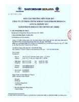 Báo cáo thường niên năm 2011 - Công ty Cổ phần Chứng khoán SAIGONBANK BERJAYA
