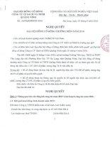 Nghị quyết Đại hội cổ đông thường niên - Công ty Cổ phần Sách và Thiết bị trường học Quảng Ninh