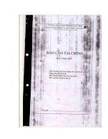 Báo cáo tài chính quý 1 năm 2007 - Công ty Cổ phần Xi măng và Xây dựng Quảng Ninh