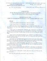 Nghị quyết Hội đồng Quản trị ngày 07-03-2011 - Công ty Cổ phần Kinh doanh Dịch vụ cao cấp Dầu khí Việt Nam