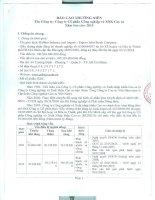 Báo cáo thường niên năm 2015 - CTCP Công nghiệp và Xuất nhập khẩu Cao Su