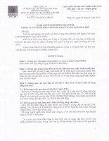 Nghị quyết Hội đồng Quản trị ngày 5-9-2011 - Công ty Cổ phần Kết cấu Kim loại và Lắp máy Dầu khí