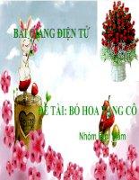 Bài giảng điện tử đề tài Bó hoa tặng cô