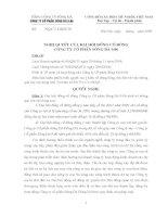 Nghị quyết Hội đồng Quản trị ngày 17-11-2009 - Công ty Cổ phần Sông Đà 9.06