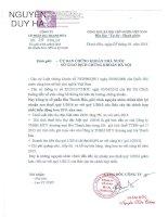 Báo cáo tài chính hợp nhất quý 1 năm 2016 - Công ty cổ phần Bia Thanh Hóa