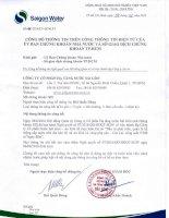 Nghị quyết Hội đồng Quản trị - Công ty cổ phần Hạ tầng nước Sài Gòn