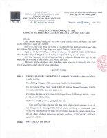 Nghị quyết Hội đồng Quản trị ngày 29-3-2011 - Công ty Cổ phần Kết cấu Kim loại và Lắp máy Dầu khí