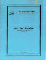 Báo cáo tài chính quý 3 năm 2013 - Công ty Cổ phần Sông Đà 1.01