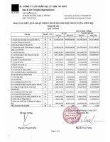 Báo cáo tài chính hợp nhất quý 3 năm 2013 - Công ty Cổ phần Đại lý Vận tải SAFI