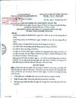 Nghị quyết Hội đồng Quản trị ngày 1-12-2010 - Công ty Cổ phần Đầu tư Phát triển Đô thị và Khu Công nghiệp Sông Đà