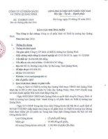 Báo cáo thường niên năm 2014 - Công ty Cổ phần Sách và Thiết bị trường học Quảng Ninh