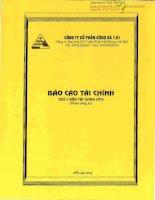 Báo cáo tài chính quý 2 năm 2014 - Công ty Cổ phần Sông Đà 1.01