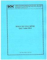 Báo cáo tài chính quý 2 năm 2014 - Công ty Cổ phần Khoáng sản Sài Gòn - Quy Nhơn