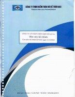 Báo cáo tài chính năm 2014 (đã kiểm toán) - Công ty Cổ phần Thủy điện Sê San 4A