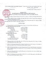 Nghị quyết Đại hội cổ đông thường niên năm 2011 - Công ty Cổ phần Xuất nhập khẩu Thủy sản Miền Trung