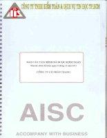 Báo cáo tài chính năm 2013 (đã kiểm toán) - Công ty Cổ phần Trang