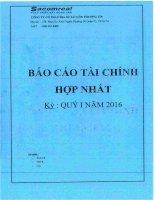 Báo cáo tài chính hợp nhất quý 1 năm 2016 - Công ty Cổ phần Địa ốc Sài Gòn Thương Tín