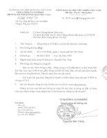 Báo cáo tài chính công ty mẹ quý 4 năm 2014 - Tổng Công ty Cổ phần Dịch vụ Kỹ thuật Dầu khí Việt Nam