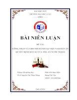 Công nhận và cho thi hành tại việt nam bản án, quyết định dân sự của tòa án nước ngoài