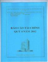 Báo cáo tài chính quý 4 năm 2012 - Công ty cổ phần Đầu tư Xây dựng Thương mại Dầu khí-IDICO