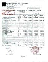 Báo cáo tài chính hợp nhất quý 1 năm 2011 - Công ty Cổ phần Đại lý Vận tải SAFI