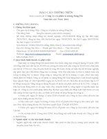 Báo cáo thường niên năm 2014 - Công ty Cổ phần Xi măng Sông Đà