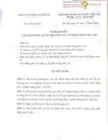 Nghị quyết Hội đồng Quản trị - Công ty Cổ phần Sông Đà 1.01