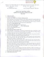 Báo cáo thường niên năm 2013 - Công ty Cổ phần Sông Đà 505