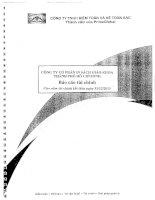 Báo cáo tài chính năm 2013 (đã kiểm toán) - Công ty Cổ phần In Sách giáo khoa tại Tp.Hồ Chí Minh