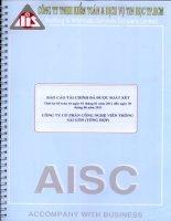 Báo cáo tài chính công ty mẹ quý 2 năm 2011 (đã soát xét) - Công ty Cổ phần Công nghệ Viễn thông Sài Gòn