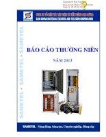 Báo cáo thường niên năm 2013 - Công ty cổ phần Vật liệu Điện và Viễn thông Sam Cường
