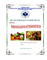 Phương pháp bảo quản rau quả tươi bằng nhiệt độ thấp