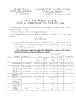 Nghị quyết Hội đồng Quản trị ngày 08-08-2011 - Công ty Cổ phần Xuất nhập khẩu Tổng hợp I Việt Nam