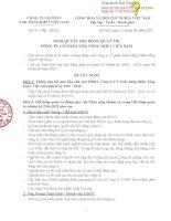 Nghị quyết Hội đồng Quản trị - Công ty Cổ phần Xuất nhập khẩu Tổng hợp I Việt Nam