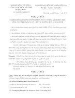 Nghị quyết Đại hội cổ đông thường niên năm 2013 - Công ty Cổ phần Sách và Thiết bị trường học Quảng Ninh