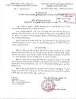 Nghị quyết Hội đồng Quản trị - CTCP Dầu nhờn PV Oil