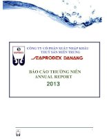 Báo cáo thường niên năm 2013 - Công ty Cổ phần Xuất nhập khẩu Thủy sản Miền Trung