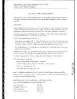 Báo cáo tài chính năm 2007 (đã kiểm toán) - Công ty cổ phần Bia Thanh Hóa