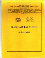 Báo cáo tài chính quý 4 năm 2015 - Công ty Cổ phần Thiết bị Phụ tùng Sài Gòn