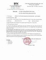 Báo cáo tài chính quý 3 năm 2014 - Công ty Cổ phần Khoáng sản Sài Gòn - Quy Nhơn