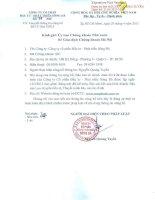 Báo cáo tài chính quý 1 năm 2015 - Công ty cổ phần Đầu tư - Phát triển Sông Đà