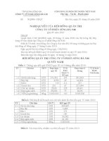 Nghị quyết Hội đồng Quản trị ngày 18-10-2010 - Công ty Cổ phần Sông Đà 9.06