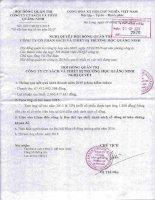 Nghị quyết Hội đồng Quản trị - Công ty Cổ phần Sách và Thiết bị trường học Quảng Ninh