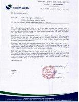 Báo cáo tài chính công ty mẹ quý 3 năm 2014 - Công ty cổ phần Hạ tầng nước Sài Gòn