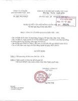 Nghị quyết Hội đồng Quản trị - Công ty Cổ phần Que hàn điện Việt Đức