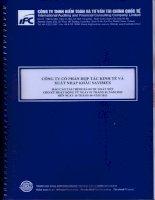 Báo cáo tài chính công ty mẹ quý 2 năm 2012 (đã soát xét) - Công ty Cổ phần Hợp tác kinh tế và Xuất nhập khẩu SAVIMEX