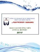 Báo cáo thường niên năm 2010 - Công ty Cổ phần Xuất nhập khẩu Thủy sản Miền Trung