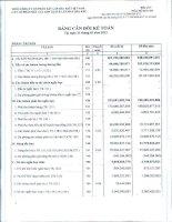 Báo cáo tài chính quý 1 năm 2013 - Công ty Cổ phần Kết cấu Kim loại và Lắp máy Dầu khí