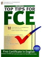 Top tips for FCE  Cambridge University