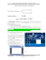 Giáo trình tin học văn phòng word 2003 và excel 2003 của PGD  ĐT Nga Sơn